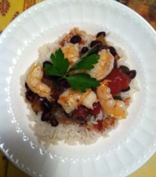 Shrimp with Black Bean Tomato Sauce